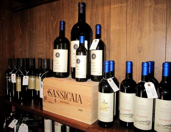 Sassicaia-Weinprobe in Bolgheri.