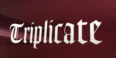 Albumcover Triplicate. Foto (Enwie Kej)
