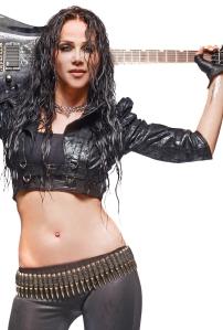 Alyzee liebt Rock-Gitarre. Foto: Ulrich H.M. Wolf