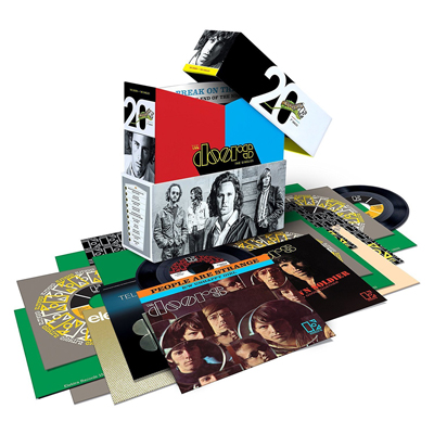 The Doors 20 Vinyl Single-Box. (c) Warner Music