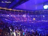 Lasershow im Stadion. Foto: Andi Wand