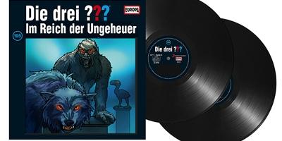 Die Drei Fragezeichen ??? - Folge 195 auf Vinyl. Packshot: Sony Music