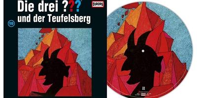 Die Drei Fragezeichen ??? Und der Teufelsberg als Picture Vinyl. Packshot: Sony Music