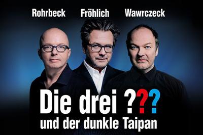 Rohrbeck, Wawrczeck und Fröhlich LIVE auf der Bühne. Illu: Silvia Christoph, Foto: Christian Hartmann