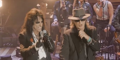 Udo Lindenberg singt NO MORE MR NICE GUY mit Alice Cooper. Capture: Udo Lindenberg UTube