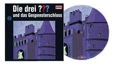 Die Drei Fragezeichen ??? Und das Gespensterschloss als Picture Vinyl. Packshot: Sony Music