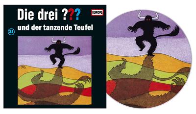 Die Drei Fragezeichen ??? Und der tanzende Teufel als Picture Vinyl. (c) Der Vinylist