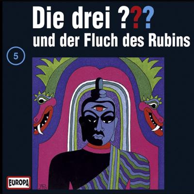 Die Drei Fragezeichen Folge 5 Und Der Fluch Des Rubins. (c) Europa