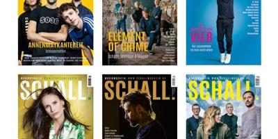 Verschiedene Cover des SCHALL. Magazins.