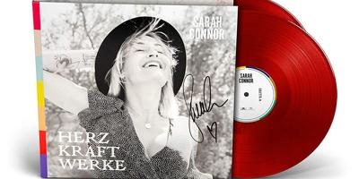 Herz Kraft Werke von Sarah Connor erscheint auch als rotes Vinyl. (c) Universal Music