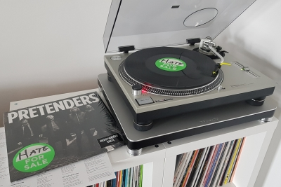 The Pretenders - Hate for Sale auf dem Plattenteller. (c) Der Vinylist