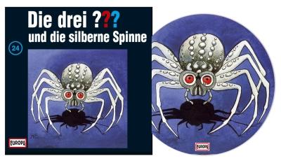 Die Drei Fragezeichen ??? und die silberne Spinne. (Montage: Der Vinylist)