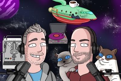 Markus & Chris produzieren einen Vinyl-Podcast. (c) vinylopresso.ch