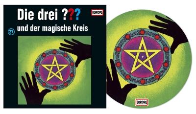 Die Drei Fragezeichen ??? und der magische Kreis. (Montage: Der Vinylist)